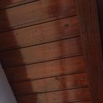 Anstrich Dachvorsprung