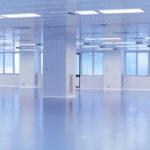 Fertige Bodenbeschichtung - Industrieanlagen-Halle