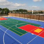 Bodenbeschichtung Basketball Feld