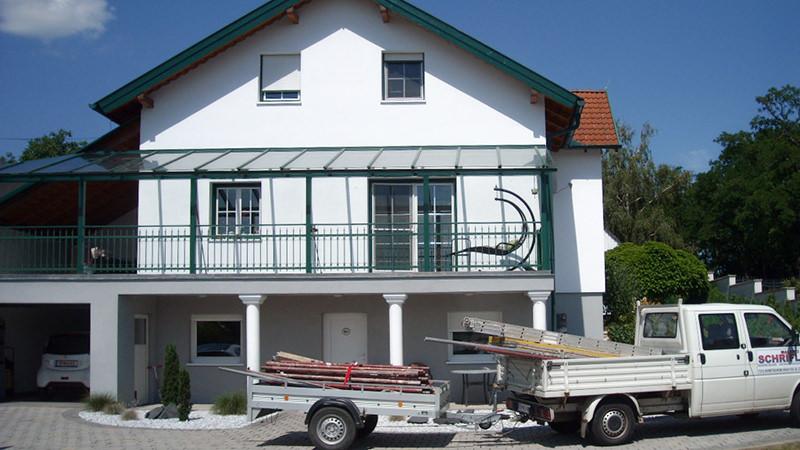 Fassade nach Renovierung und Anstrich